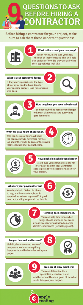 hiring a contractor infographic